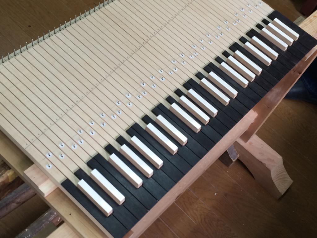 チェンバロの鍵盤